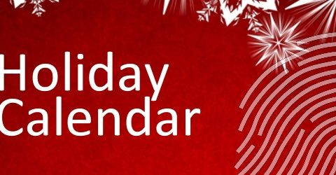 Holiday Schedule 2018
