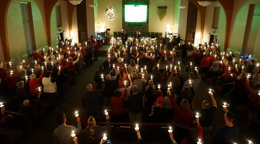 A scene from last-years Christmas Eve Service.